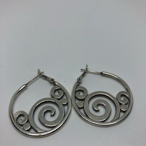 Brighton Silver and CZ hoops